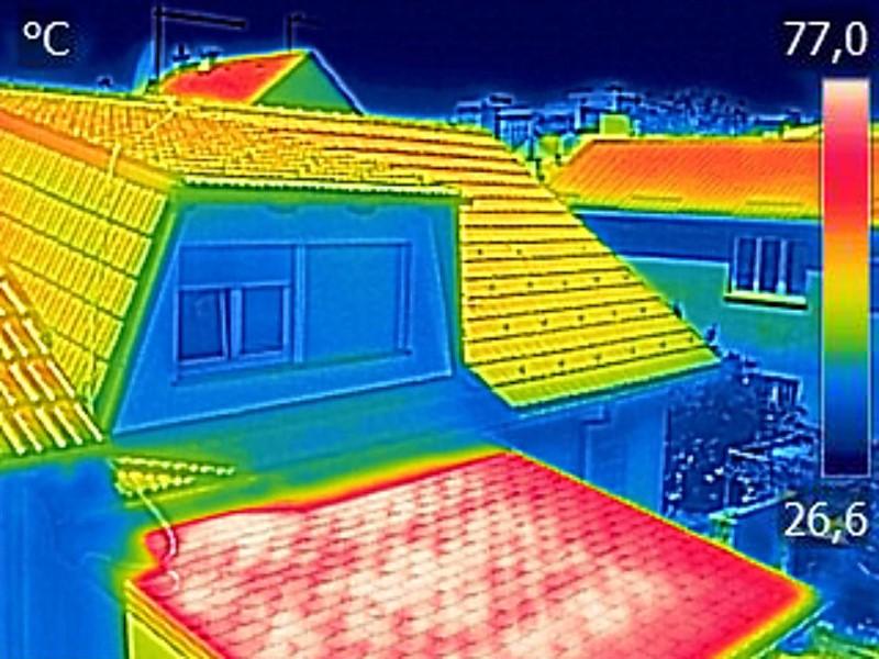 Wärmebild-Dach