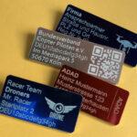 Drohnen-Plaketten mit Registrierungsnummer