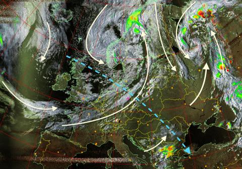 Wetteranalyse per Satellit in entfernten Regionen
