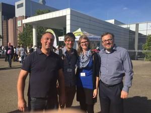 Jens Alemann (Octonauten UG), Francis & Bina von my-road.de und Christoph Bach (Vorstand BVCP)