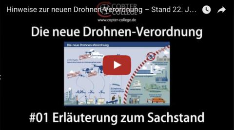 """Videobeitrag """"Hinweise zur neuen Drohnen-Verordnung"""" – Stand 22. Januar 2017"""