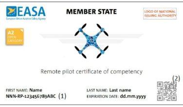 Darstellung des EU-Kompetenznachweises der EASA