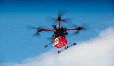 Testflüge für das Projekt Medifly Hamburg am 05.02.2020 in Hamburg. Foto: Daniel Reinhardt/ZAL